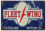 V intage Fleet Wing Motor Oil Sign