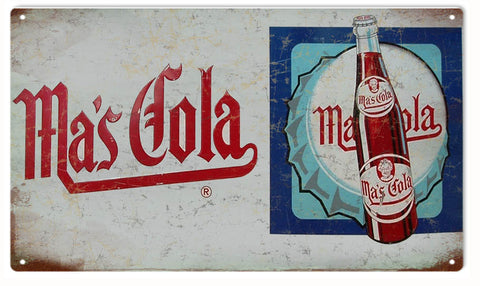 Vintage Mas Cola Sign