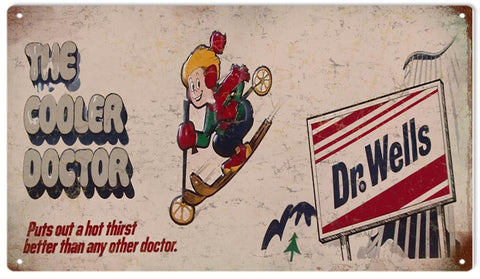 Vintage Dr.Wells Drink Sign