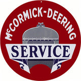 McCormick Deering Service Sign 18 Round