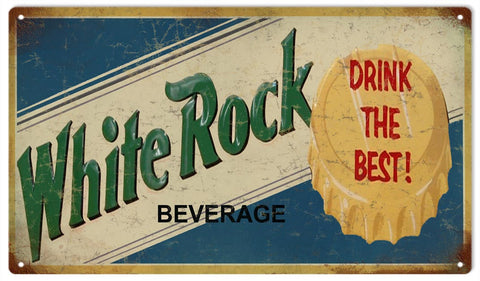 Vintage White Rock Beverage Sign