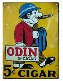 Vintage Odin Cigar Sign