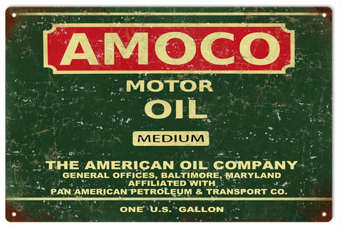 Vintage Amoco Motor Oil Sign
