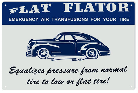 Flat Flator Air for Tire Sign