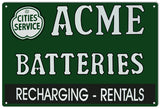 Acme Batterie Sign