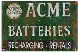 Vintage Acme Batterie Sign