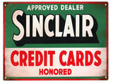 Vintage Sinclair Credit Card Sign 9x12