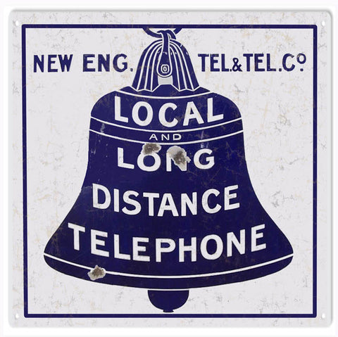 Vintage New Eng Telephone Sign 12x12