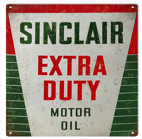 Vintage Sinclair Motor Oil Sign 12x12
