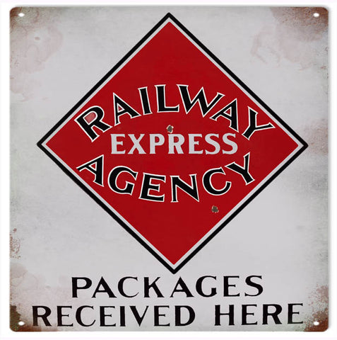 Vintage Railway Express Sign 12x12
