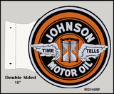 Johnson Motor Oil Flange Sign 15x171/2