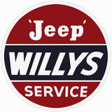 Willys Jeep Service Sign 18 Round