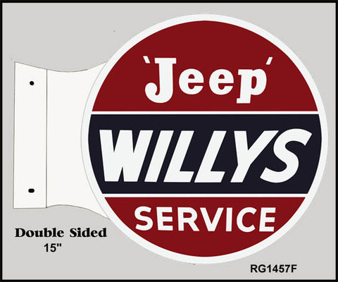 Jeep Willys Service Flange Sign 15x171/2