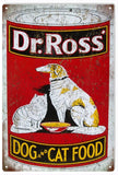 Vintage Dr Ross Dog And Cat Food Sign