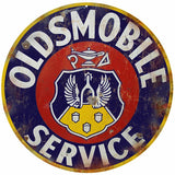 Vintage Oldsmobile Sevice Sign 14 Round