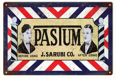 Vintage Pastum Barber Sign
