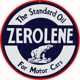 Zerolene Motor Oil Sign 14 Round