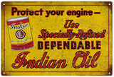 Vintage Indian Motor Oil Sign
