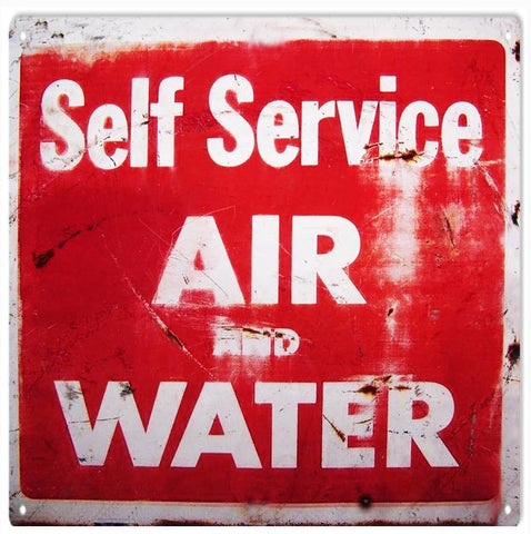 Vintage Air And Water Automobile Sign 12x12