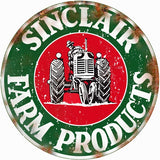 Vintage Sinclair Farm Products Sign 14 Round