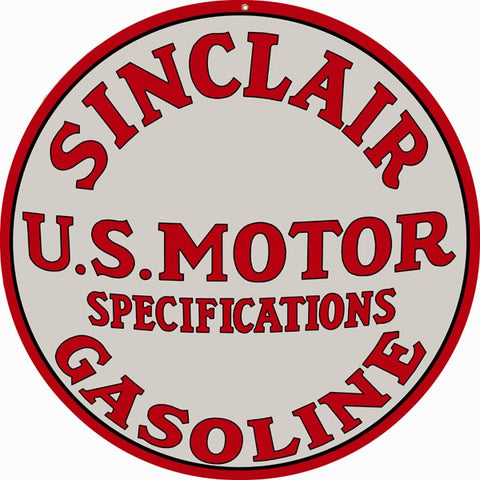 Sinclair Gasoline Sign 14 Round