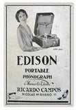 Vintage Edison Portable Phonograph Sign