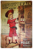Vintage Boudeaux Wine Sign
