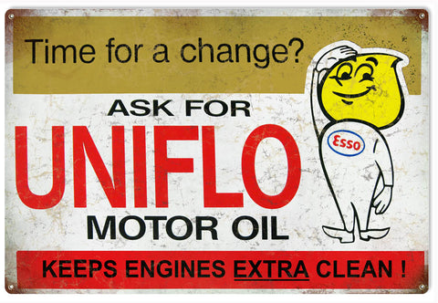 Vintage Uniflo Motor Oil Sign