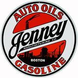 Jenney Gasoline Sign 14 Round