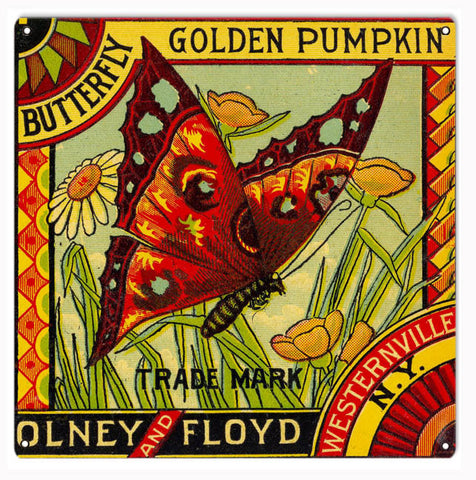 Olney And Floyd Butterfly Sign 12x12