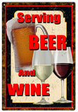 Vintage Beer And Wine Sign
