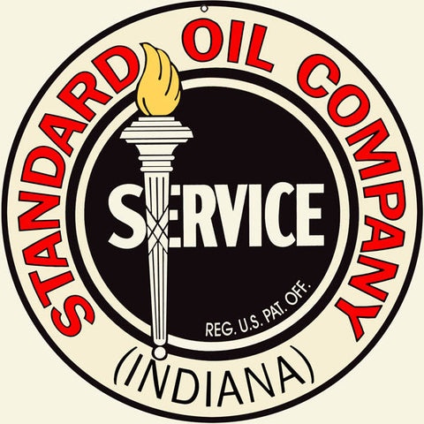 Standard Oil Gasoline Sign 14 Round