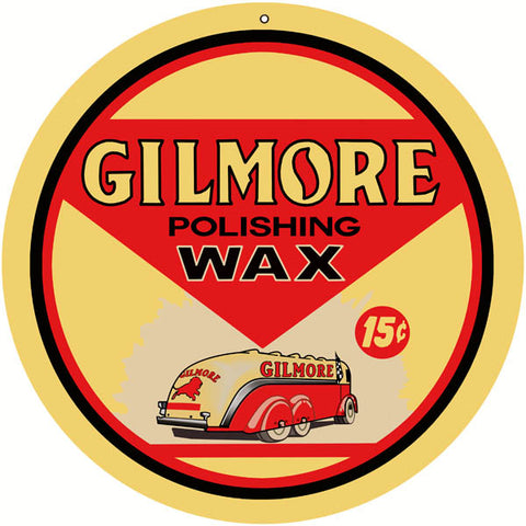 Gilmore Polishing Wax Sign 14 Round