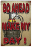 Vintage Go Ahead Make My Day Sign