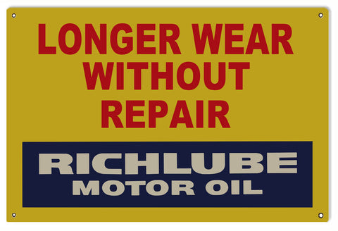 Richlube Motor Oil Sign