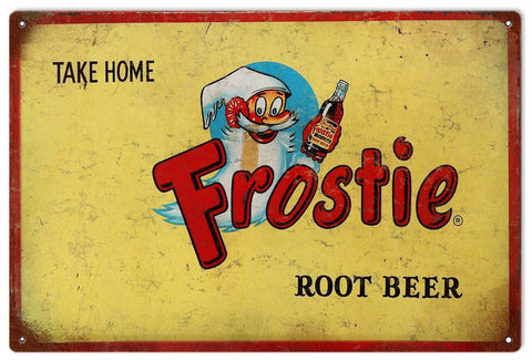 Vintage Frostie Root Beer Sign