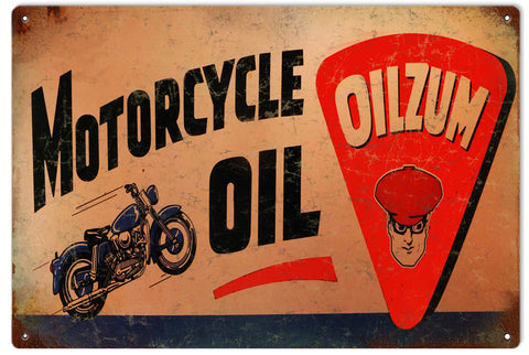 Vintage Oilzum Motorcycle Sign