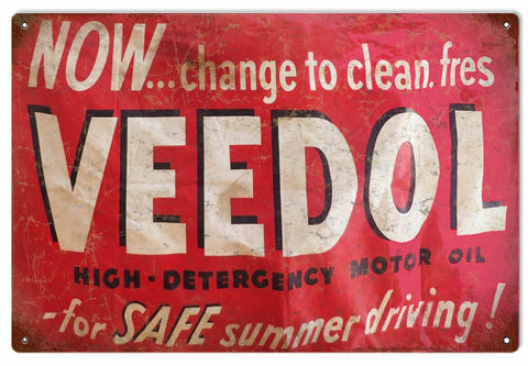 Vintage Veedol Motor Oil Sign