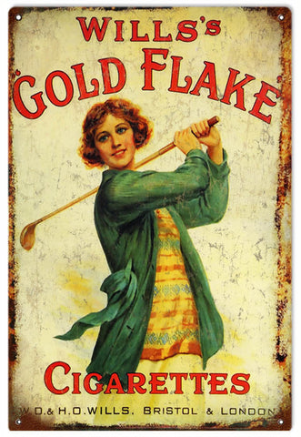 Wills Gold Flake Cigarette Sign