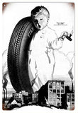 Vintage Fisk Tire With Baby Sign