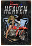 Vintage Flying To Heaven Motorcycle Pin Up Girl