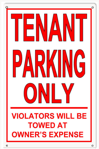 Tenant Parking Sign