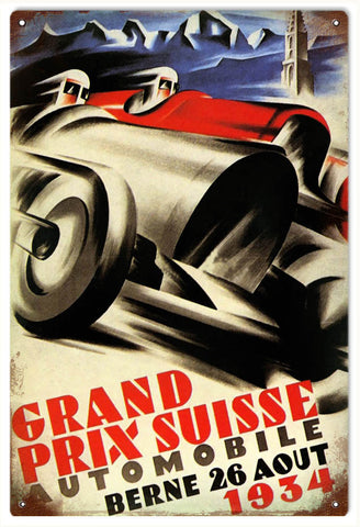 Vintage Grand Prix Suisse Automobile Sign