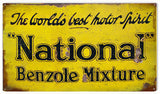 Vintage National Oils Sign 8x14