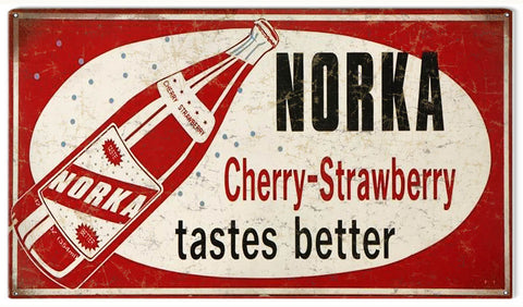 Vintage Norka Beverage Sign 8x14