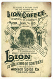 Vintage Lions Coffee Sign