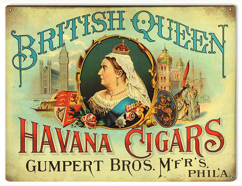 Vintage Havana Cigars Sign 9x12