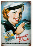 Vintage Players Cigarettes Sign