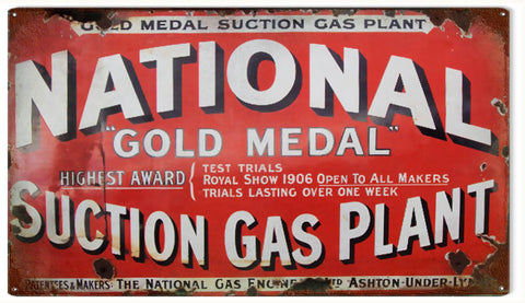 Vintage National Gas Plant Sign