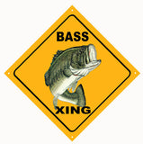 Bass Xing Fishing Sign 1212